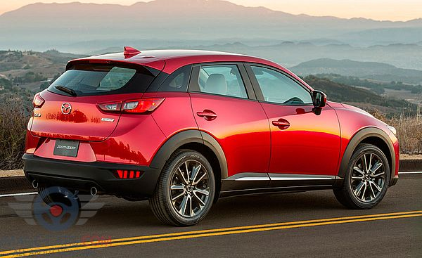 Rear Right side of Mazda CX3 of 2017 year