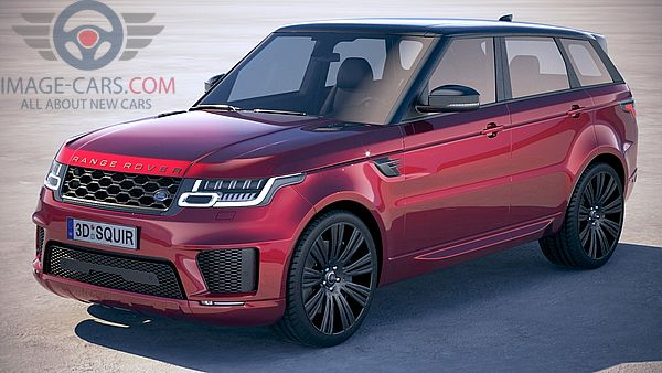 Front Left side of Range Rover Sport of 2018 year