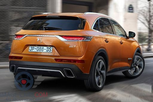 Rear view of Citroen DS7 Crossback of 2018 year