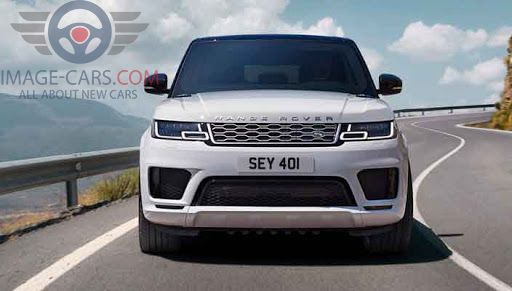 Front view of Range Rover Sport of 2018 year