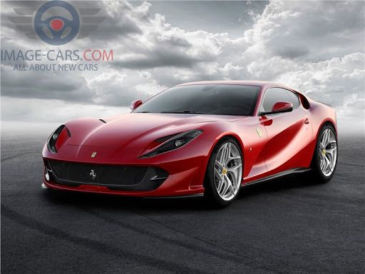 Front Left side of Ferrari 812 Superfast of 2018 year