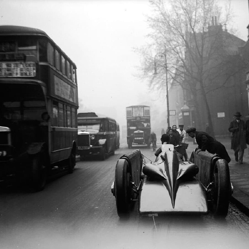 The Golden Arrow preparing to be displayed at Selfridges department store, London