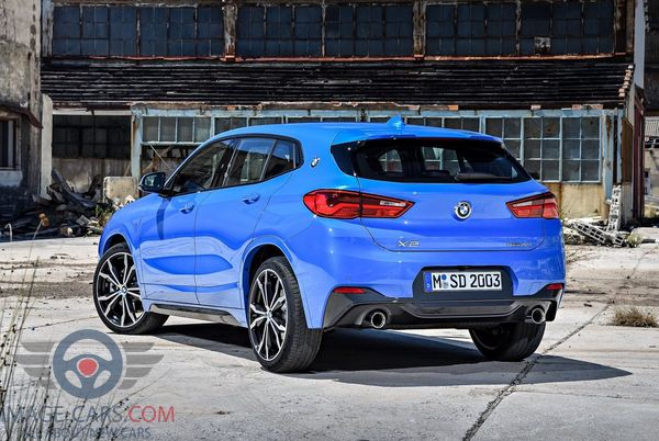 Rear view of BMW X2 of 2018 year