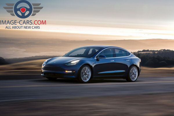 Front left side view of Tesla Model 3 of 2017 year