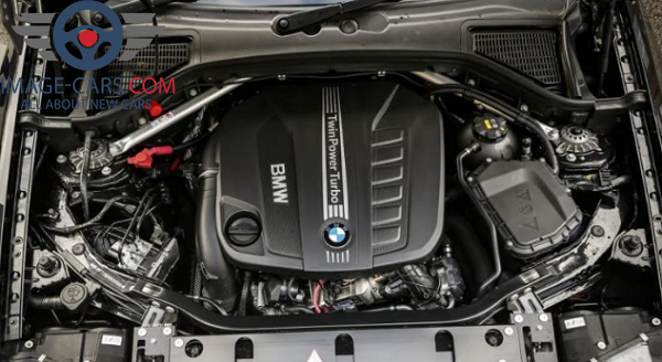 Engine view of BMW X3 of 2018 year