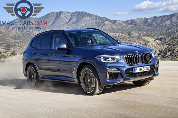 Front-right side view of BMW X3 of 2018 year