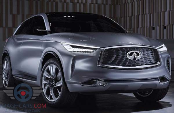 Front view of Infiniti QX 70 of 2018 year
