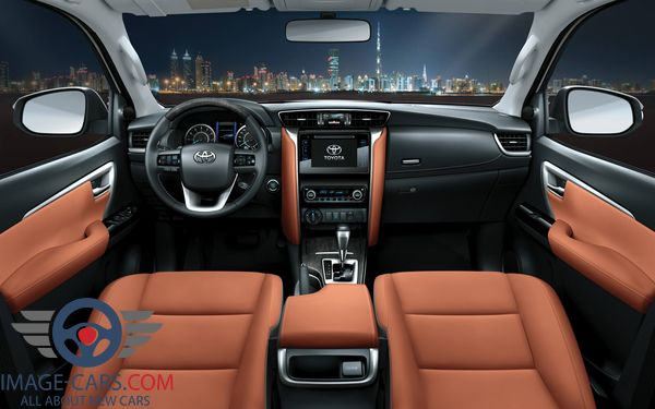 Dashboard view of Toyota Fortuner of 2018 year