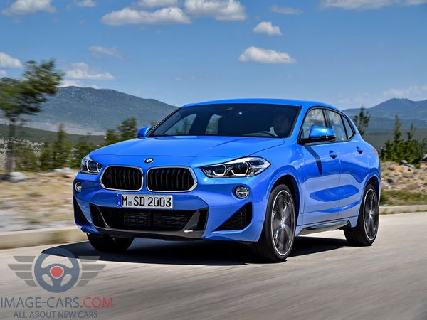 Front view of BMW X2 of 2018 year