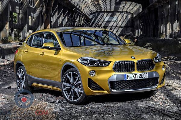 Front Right side of BMW X2 of 2018 year