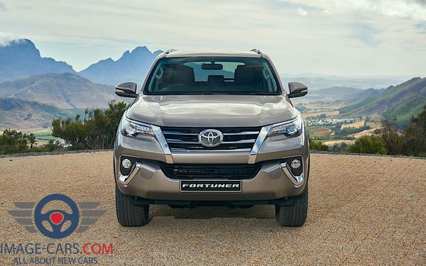 Front view of Toyota Fortuner of 2018 year