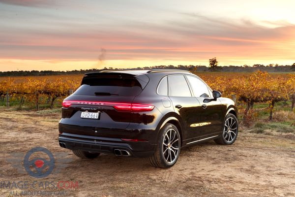 Rear view of Porsche Cayenne of 2018 year