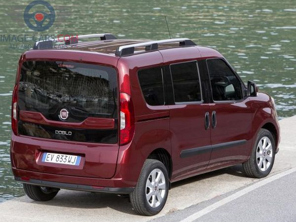 Rear view of Fiat Doblo of 2018 year