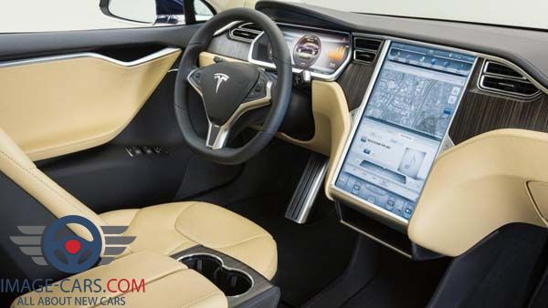 Dashboard view of Tesla Model 3 of 2017 year