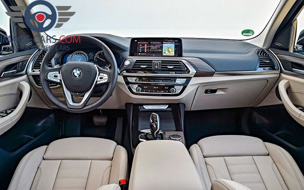 Salon view of BMW X3 of 2018 year