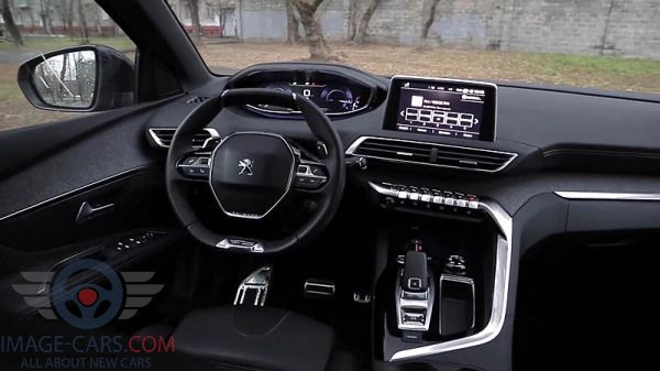 Dashboard view of Peugeot 3008 of 2018 year