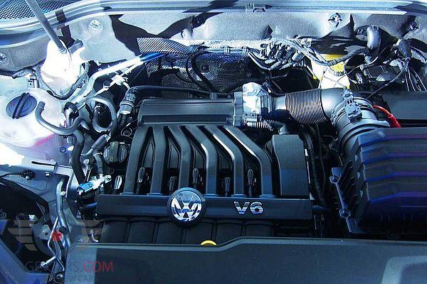 Engine view of Volkswagen Atlas of 2017 year