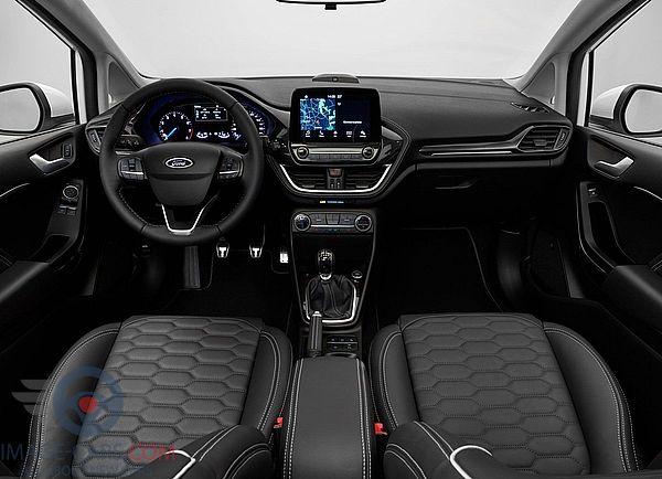 Dashboard view of Ford Fiesta of 2018 year