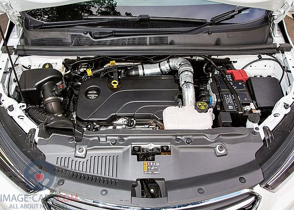 Engine view of Opel Mokka of 2018 year