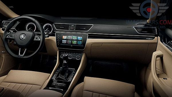 Dashboard view of Skoda Superb of 2018 year