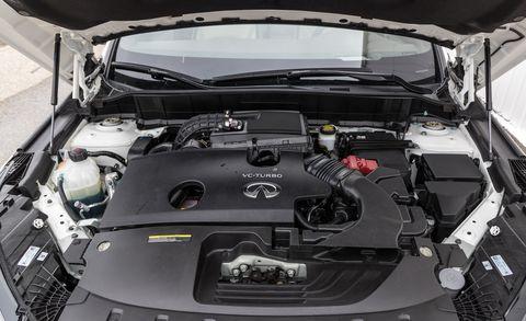 Engine view of Infiniti QX50 of 2019 year