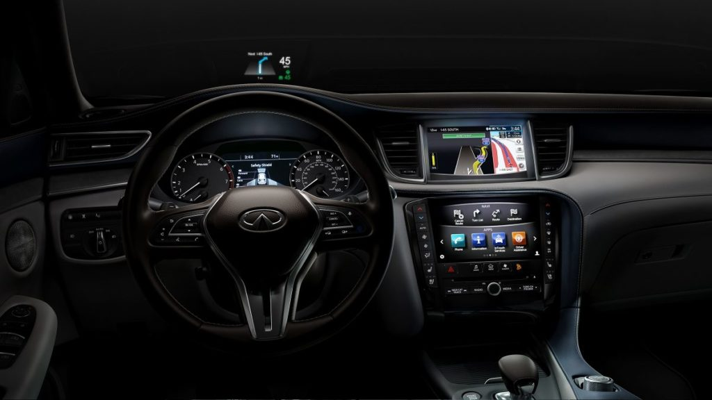 Dashboard view of Infiniti QX50 of 2019 year