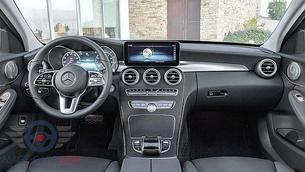 Dashboard view of Mercedes Benz C class of 2019 year