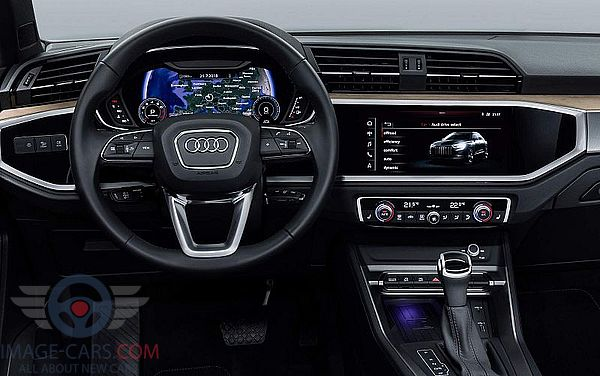 Dashboard view of Audi Q3 of 2018 year