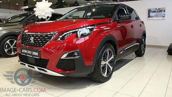 Front view of Peugeot 3008 of 2018 year
