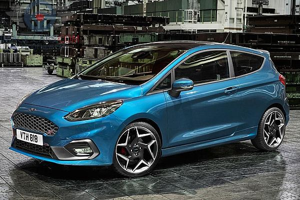 Left side of Ford Fiesta of 2018 year