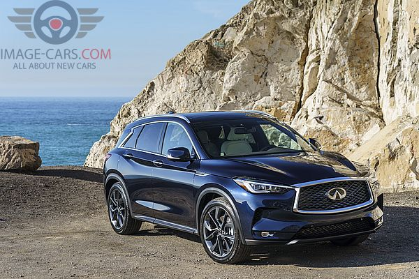Front Right side of Infiniti QX50 of 2019 year