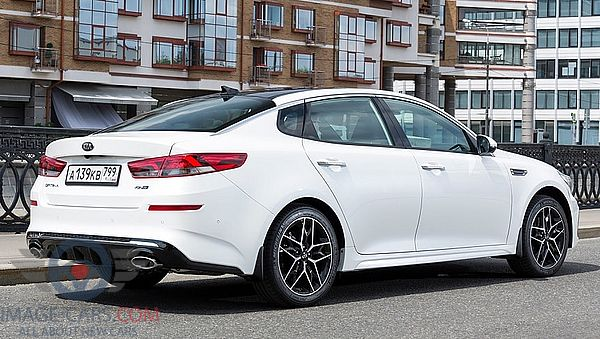 Rear Right side of Kia Optima of 2019 year