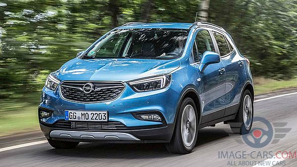 Front view of Opel Mokka of 2018 year
