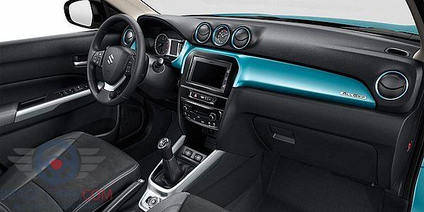 Dashboard view of Suzuki Grand Vitara of 2018 year