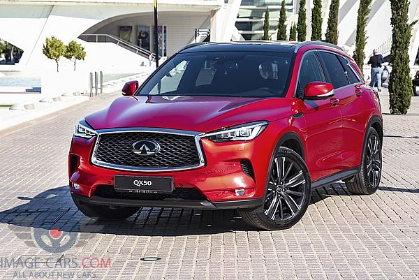 Front view of Infiniti QX50 of 2019 year
