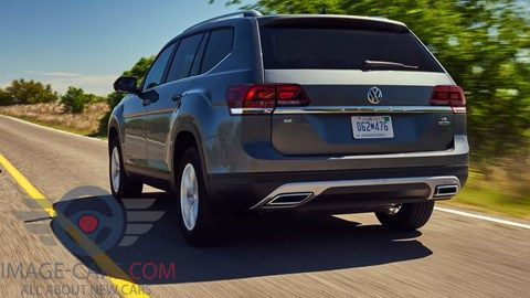 Rear view of Volkswagen Atlas of 2017 year