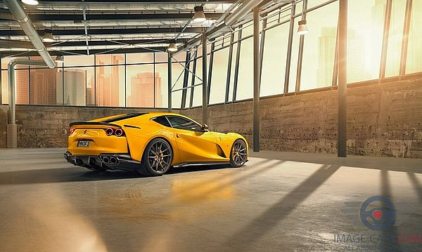 Rear Right side of Ferrari 812 Superfast of 2018 year