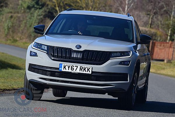 Front view of Skoda Kodiaq Sportline of 2017 year