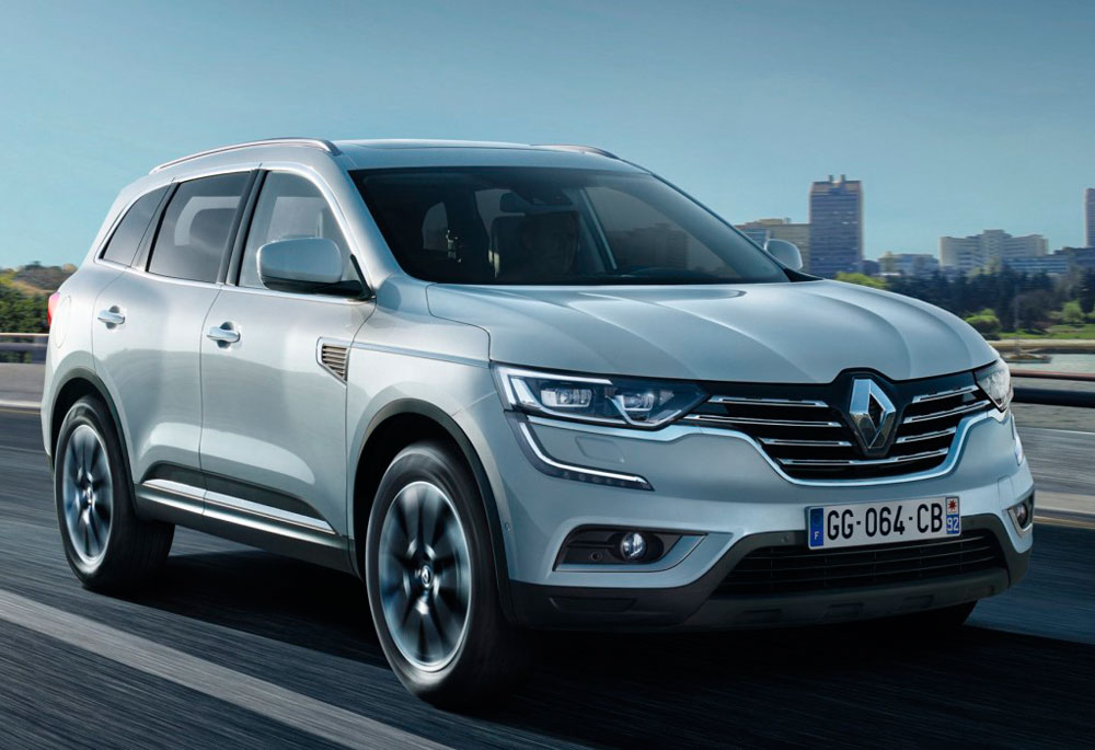 Front view of Renault Koleos of 2017 year