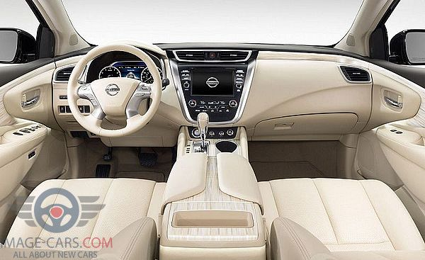 Dashboard view of Nissan Murano of 2018 year