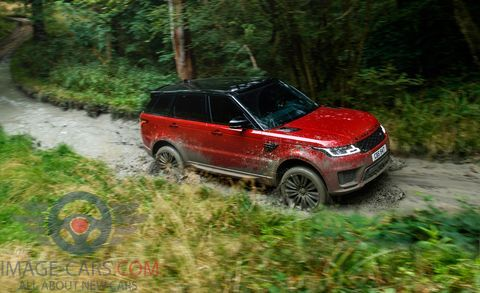 Right side Range Rover Sport of 2018 year