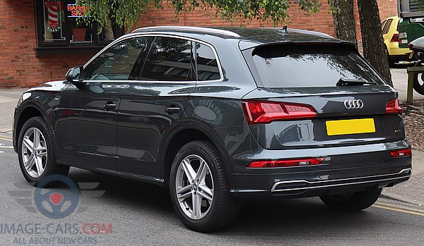 Rear Left side of Audi Q5 of 2018 year