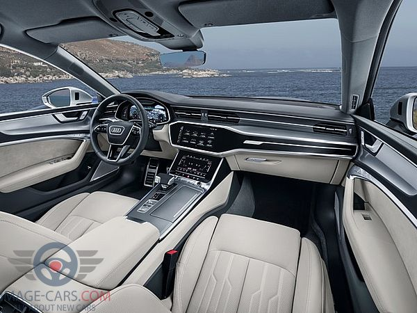 Dashbord view of Audi A7 of 2018 year
