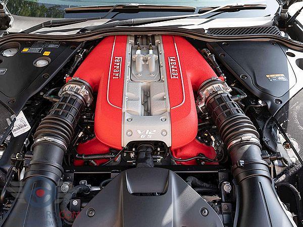 Engine view of Ferrari 812 Superfast of 2018 year