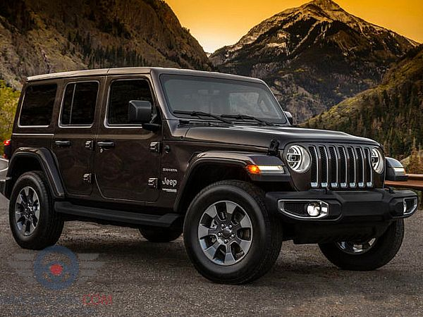 Front Right side of Jeep Wrangler of 2018 year