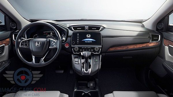 Dashboard view of Honda CR-V of 2018 year