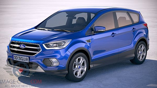 Front Left side of Ford Kuga of 2018 year