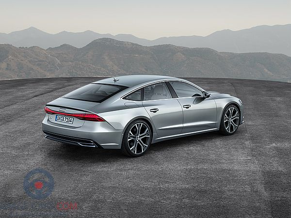 Rear Right side of Audi A7 of 2018 year