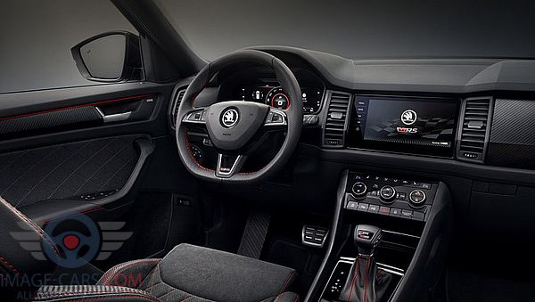 Dashboard view of Skoda Kodiaq Sportline of 2017 year