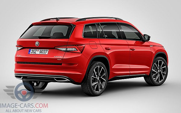 Rear Right side of Skoda Kodiaq Sportline of 2017 year